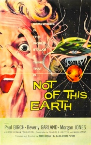 1950s Vintage Movie 1957 Poster NOT OF THIS EARTH