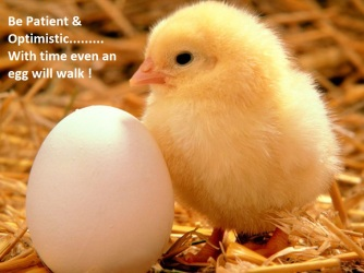 with time even an egg will walk