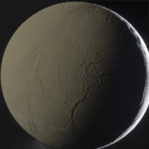 saturn moon with sea inside