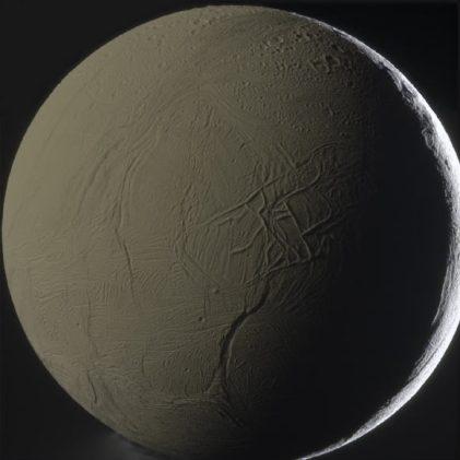 saturn moon with sea inside